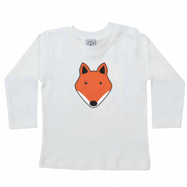 tommy & lottie baby long sleeve fox t shirt