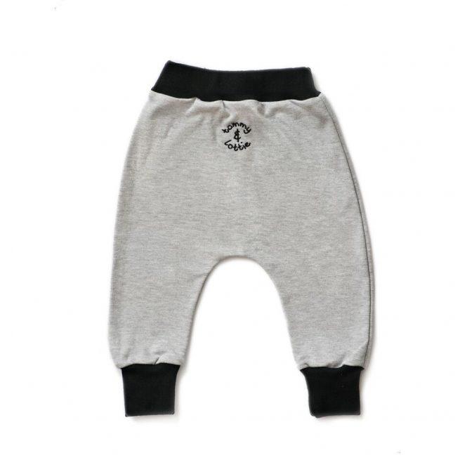 grey and black baby leggings
