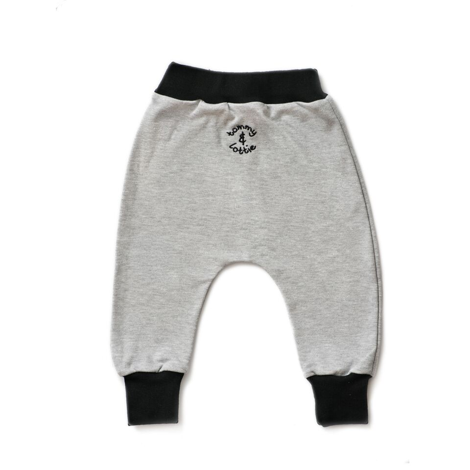 grey and black baby leggings