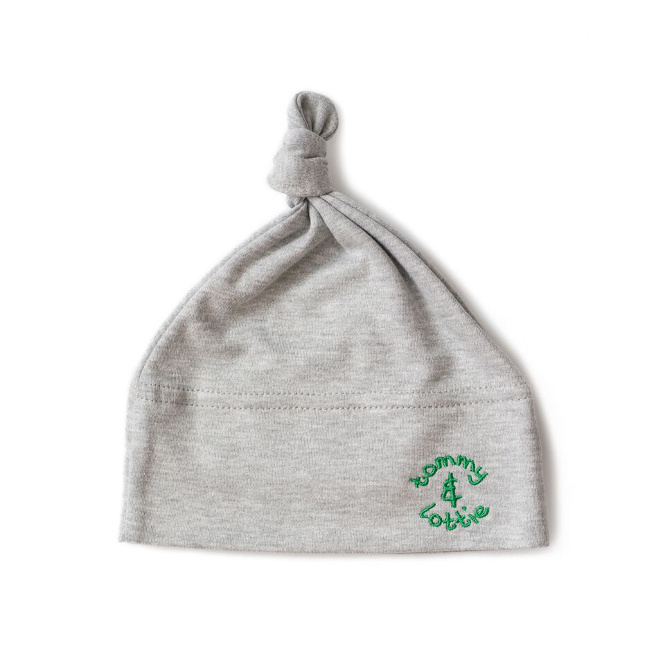 babies hat green logo