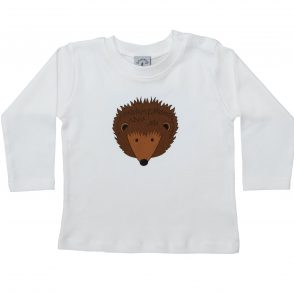 tommy and lottie eco friendly long sleeve hedgehog t shirt
