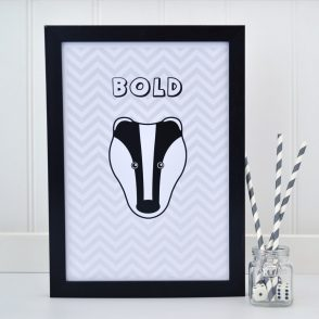 Badger Chevron Print