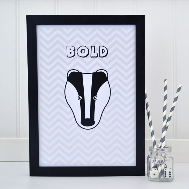 Badger Chevron Print