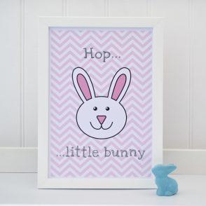 Hop little bunny print