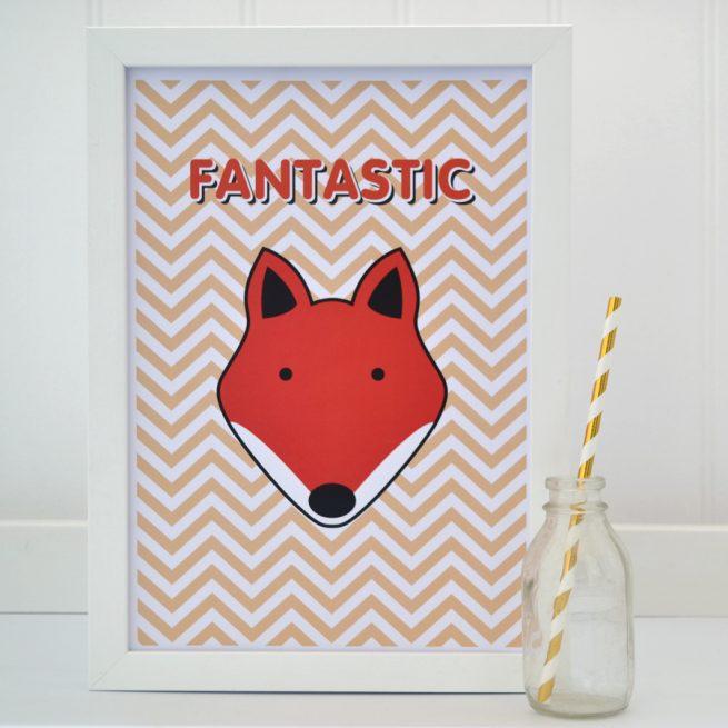 Fantastic Fox zig zag A4 print