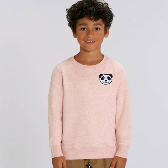 tommy & lottie panda sweatshirt - pink cream marl
