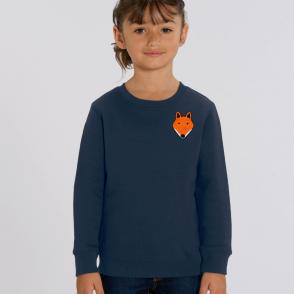 tommy and lottie childrens organic fox sweatshirt - navy