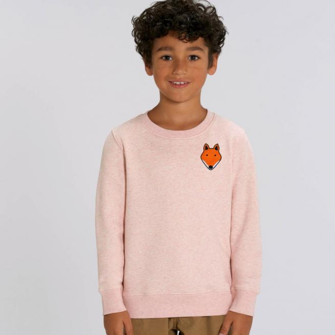 tommy-lottie-childrens-organic-fox-sweatshirt-pink-cream-marl.
