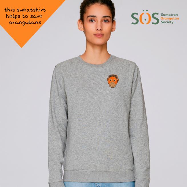 orangutan sweatshirt by tommy and lottie