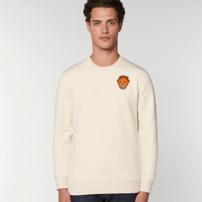 tommy and lottie adults organic cotton save the orangutan sweatshirt - natural