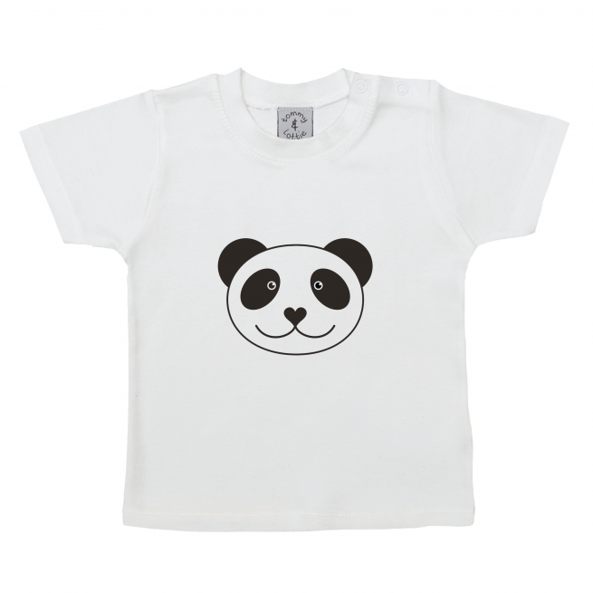 tommy and lottie sustainable short sleeve panda baby t shirt