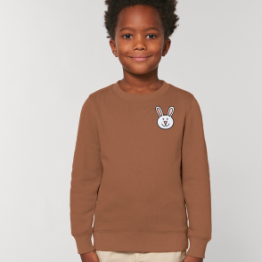 tommy and lottie childrens organic bunny sweatshirt - caramel