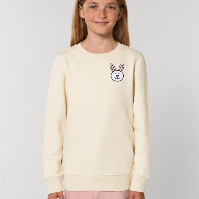 tommy & lottie childrens organic bunny sweatshirt - natural