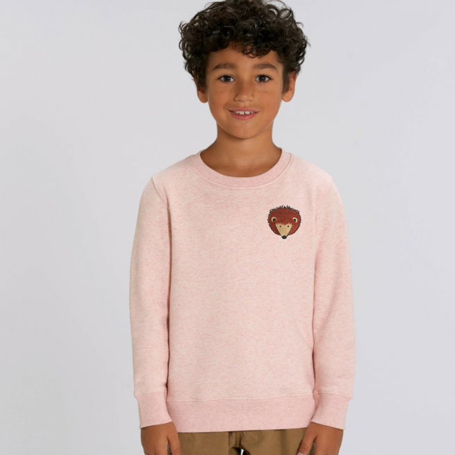 tommy-lottie-childrens-organic-hedgehog-sweatshirt-pink-cream-marl