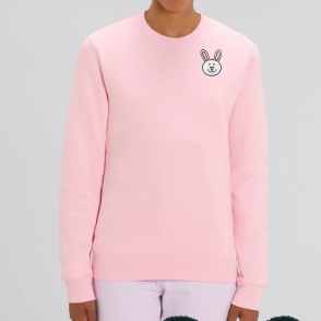 bunny pink sweatshirt - organic cotton