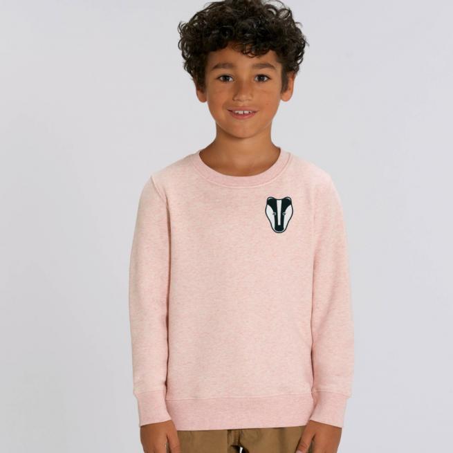 tommy-lottie-childrens-organic-badger-sweatshirt-pink-cream-marl.