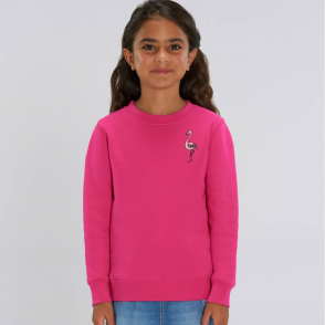 tommy and lottie kids organic flamingo sweatshirt - pink