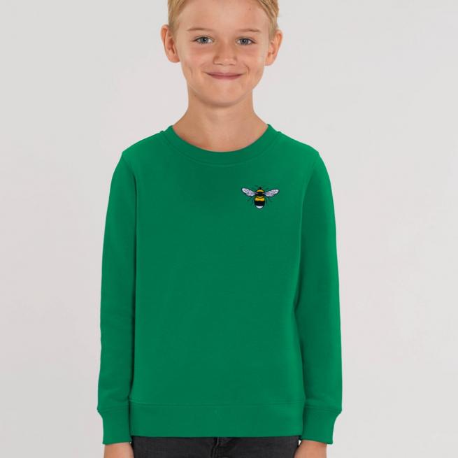 tommy & lottie childrens organic bee sweatshirt - green