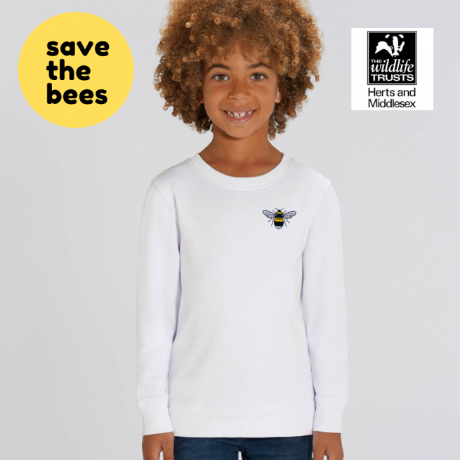 save the bees kids organic cotton sweatshirt by tommy & lottie