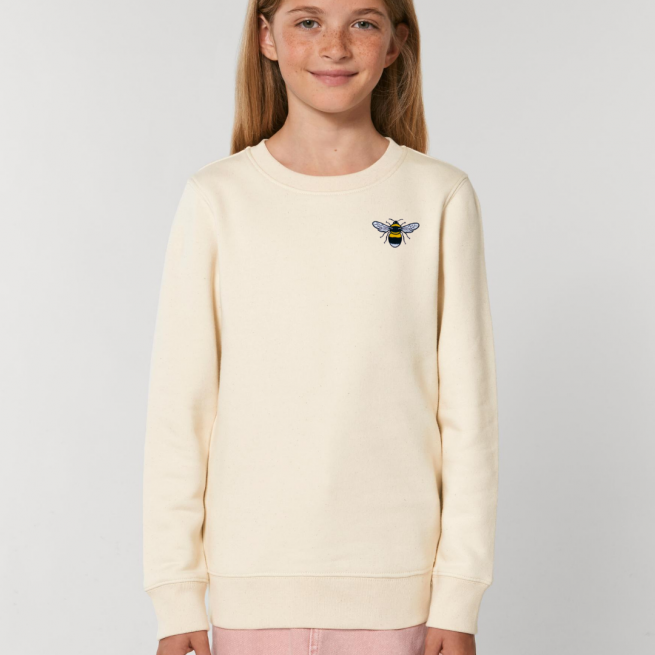 save the bees kids natural sweatshirt by tommy & lottiesh