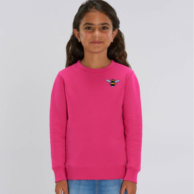 save the bees kids pink sweatshirt by tommy & lottie