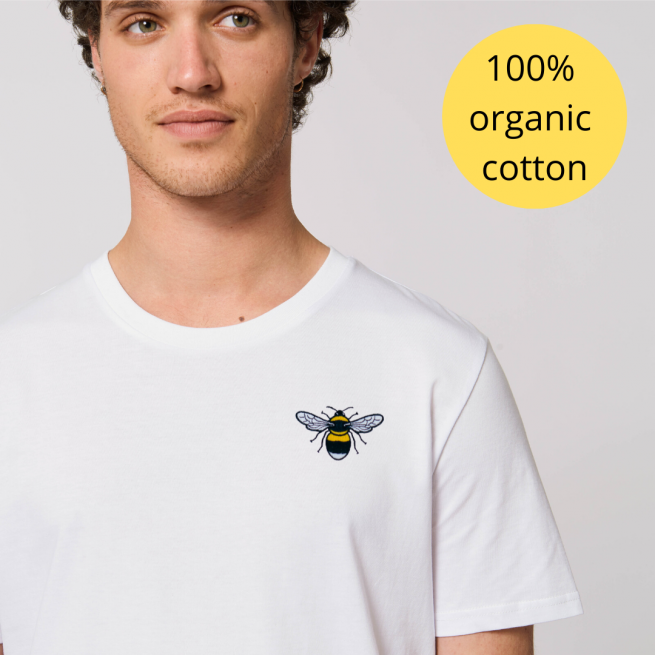 tommy and lottie 100% GOTS organic cotton t shirt - bee design