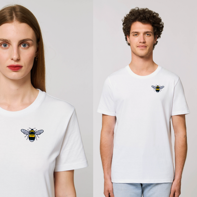 tommy and lottie organic cotton unisex bee t shirt