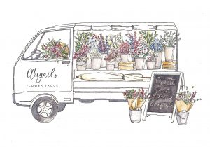 Abigails Flower Truck Logo