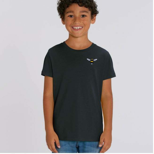 Tommy & Lottie Organic Cotton Kids Black Bee T Shirt