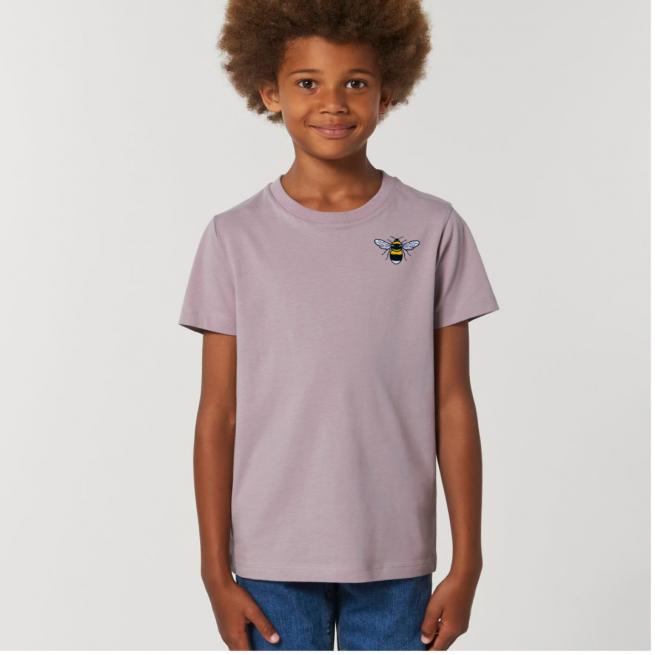 Tommy & Lottie Organic Cotton Kids Lilac Petal Bee T Shirt