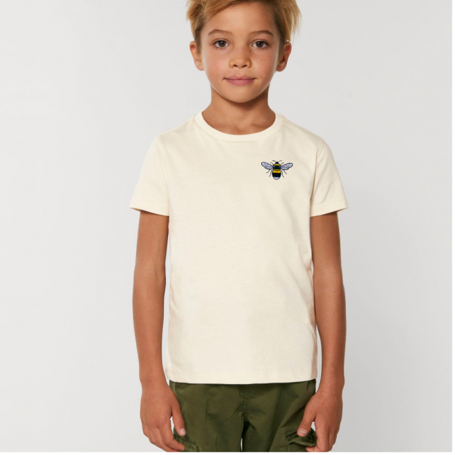 Tommy & Lottie Organic Cotton Kids Natural Bee T Shirt