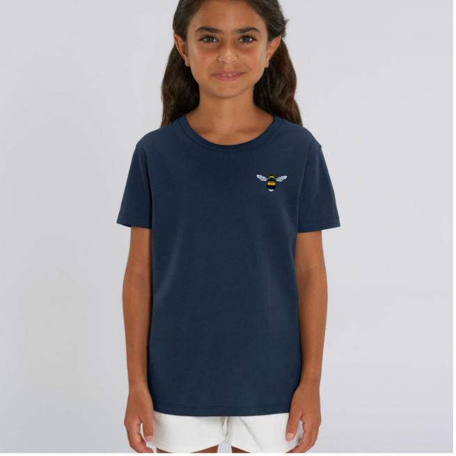 Tommy & Lottie Organic Cotton Kids Navy Bee T Shirt