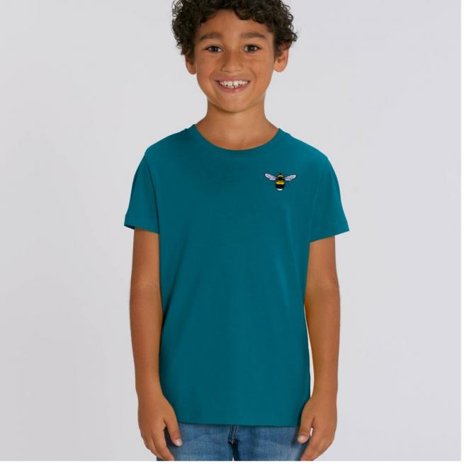 Tommy & Lottie Organic Cotton Kids Ocean Depth Bee T Shirt