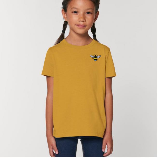 Tommy & Lottie Organic Cotton Kids Ochre Bee T Shirt