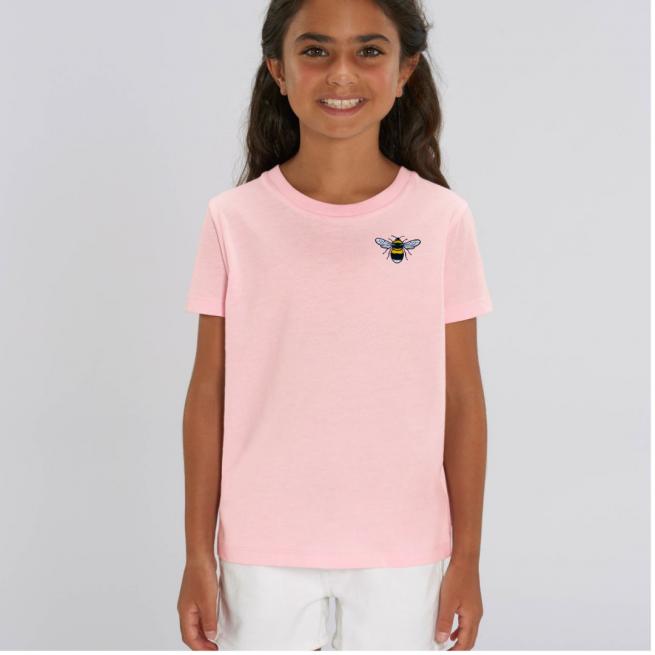 Tommy & Lottie Organic Cotton Kids Pale Pink Bee T Shirt