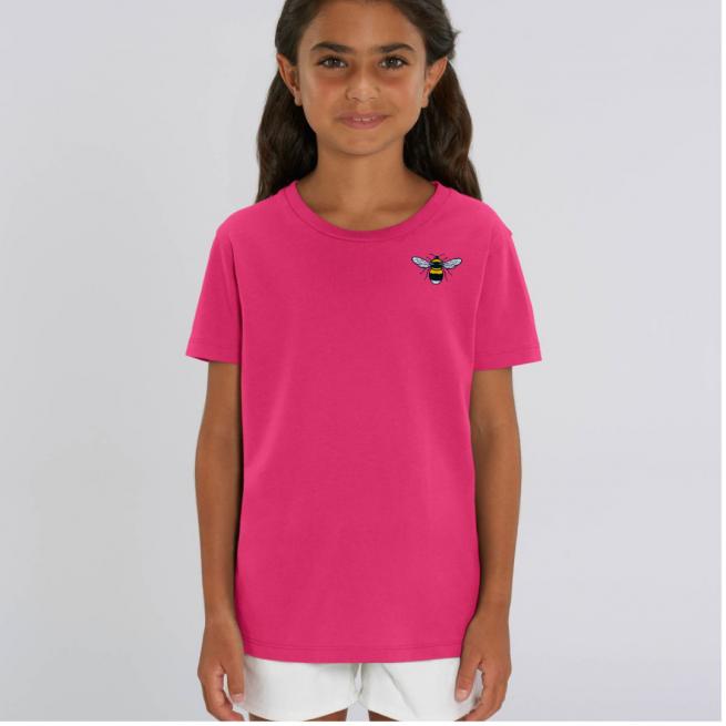 Tommy & Lottie Organic Cotton Kids Raspberry Pink Bee T Shirt