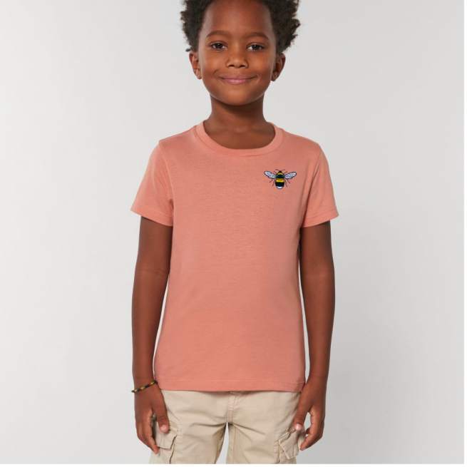 Tommy & Lottie Organic Cotton Kids Rose Clay Bee T Shirt