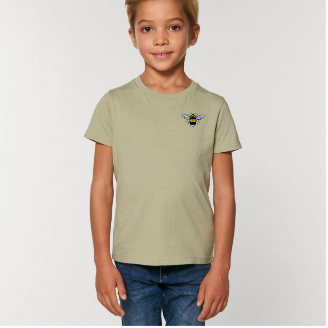 Tommy & Lottie Organic Cotton Kids Sage Bee T Shirt