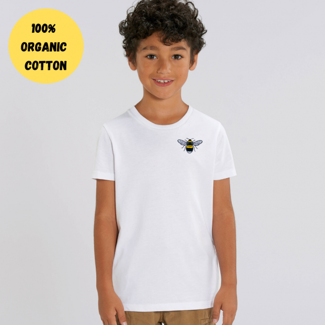 100% GOTS organic cotton bee t shirt - kids