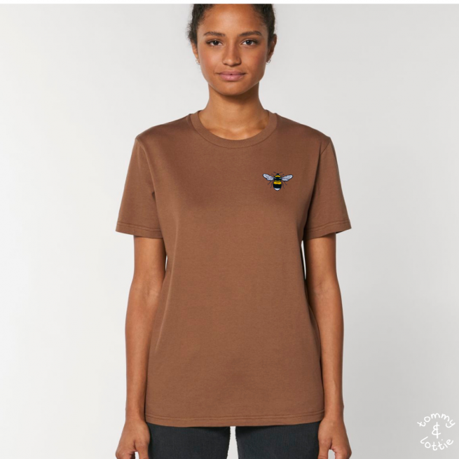 Tommy & Lottie Adults Organic Cotton Caramel Bee T Shirt