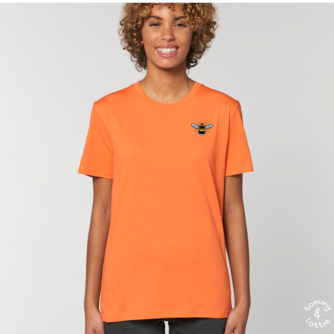 Tommy & Lottie Adults Organic Cotton Melon Code Bee T Shirt