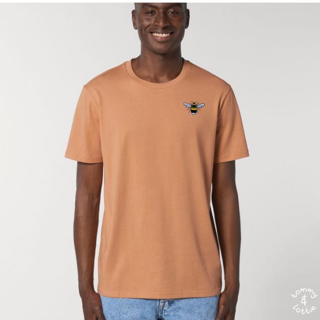 Tommy & Lottie Adults Organic Cotton Mushroom Bee T Shirt