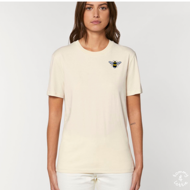 Tommy & Lottie Adults Organic Cotton Natural Bee T Shirt