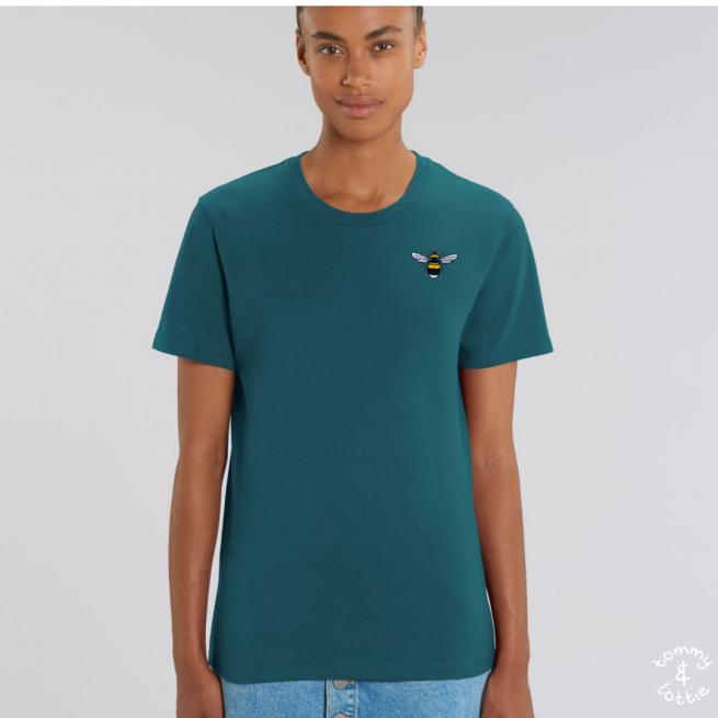 Tommy & Lottie Adults Organic Cotton Stargazer Bee T Shirt
