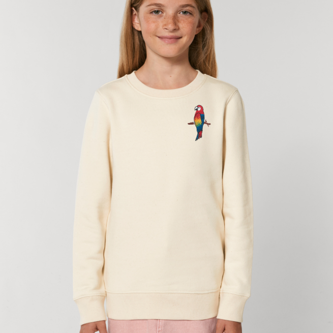 tommy & lottie childrens organic parrot sweatshirt - natural