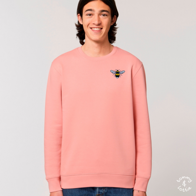 tommy & lottie organic cotton save the bees sweatshirt - adults - canyon pink