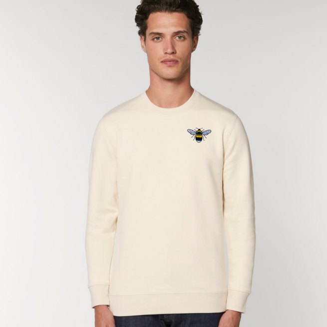 tommy & lottie organic cotton save the bees sweatshirt - adults - natural