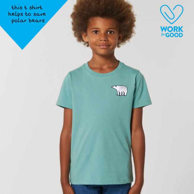 save the polar bears tommy & lottie organic cotton t shirt - childrens