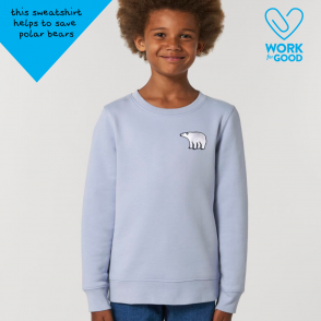 save the polar bears tommy & lottie organic cotton sweatshirt - childrens
