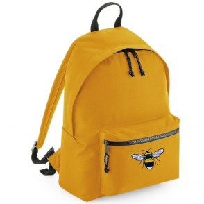 bee on mustard recycled plastic back pack - tommy & lottie